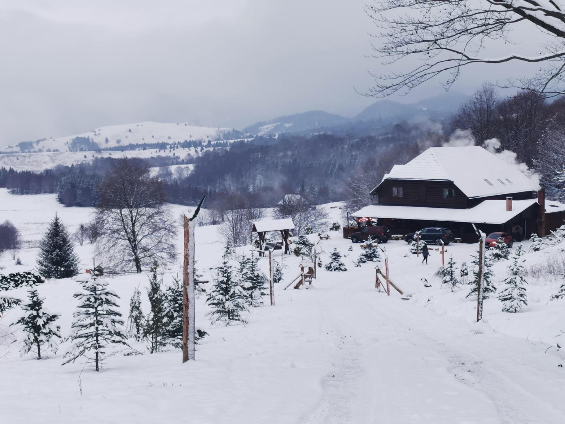 Cabana sapte coline iarna